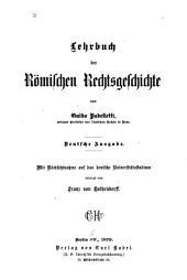 Lehrbuch der römischen rechtsgeschichte: Band 1