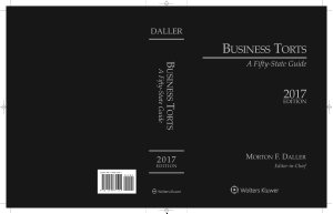 Business Torts  A Fifty State Guide  2017 Edition  IL  PDF