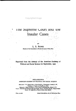 The Supreme Court and the Insular Cases PDF