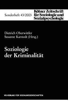 Soziologie der Kriminalit  t PDF