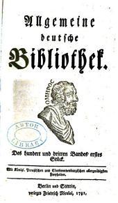Allgemeine deutsche Bibliothek: Bände 103-104