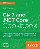 C  7 and  NET Core Cookbook PDF