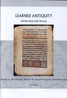 Learned Antiquity PDF