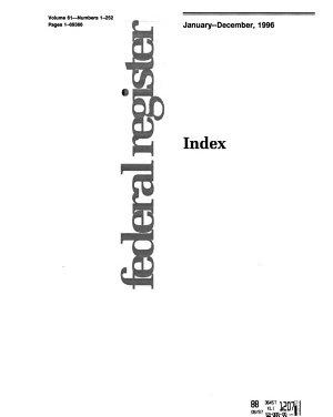 Federal Register Index