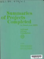 Summaries of Projects Completed in Fiscal Year ...