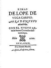 Rimas de Lope de Vega Carpio: a ora de nvevo añadidas con el nvevo arte de hazer comedias deste tiempo, Volumen 2