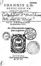 De anima et vita libri tres... Suivi de : Philippi Melanthonis de anima liber unus