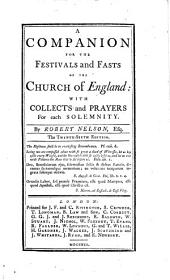A companion for the festivals and fasts of the Church of England ... The twenty-sixth edition
