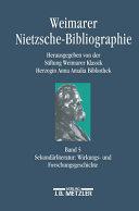 Weimarer Nietzsche Bibliographie in 5 B  nden PDF