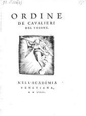 Ordine de cavalieri del Tosone (da Francesco Sansovino.)