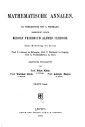 Mathematische Annalen: Volume 37