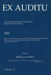 Ex Auditu - Volume 17: An International Journal for the Theological Interpretation of Scripture
