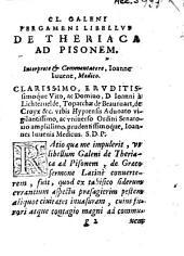 Libellus de theriaca ad Pisonem