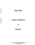North American Free Trade Agreement Between the Government of the United States of America, the Government of Canada and the Government of the United Mexican States: Annex 302.2. Tariff schedule of Mexico