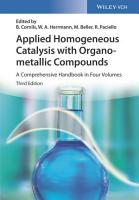 Applied Homogeneous Catalysis with Organometallic Compounds PDF