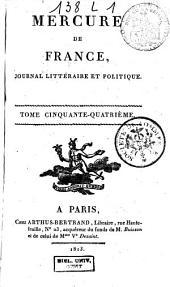 Mercure de France: Volume54