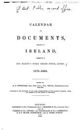 Calendar of Documents, Relating to Ireland: 1171-1251