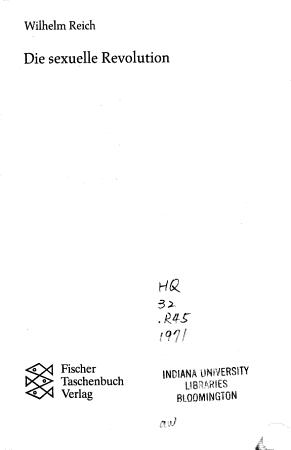 Die sexuelle Revolution PDF