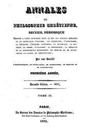 Annales de philosophie chrétienne: Volumes2à3