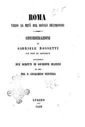Roma verso la metà del secolo decimonono considerazioni