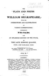 The plays and poems of William Shakspeare: Volume 11
