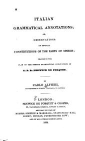Italian grammatical annotations; or, Observations on several constructions of the parts of speech
