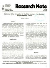 Lightning strike simulation for studying southern pine bark and engraver beetle attacks