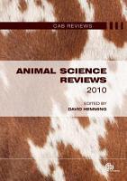 Animal Science Reviews 2010 PDF