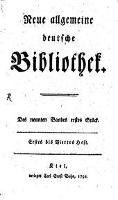 Neue allgemeine deutsche Bibliothek: Band 9