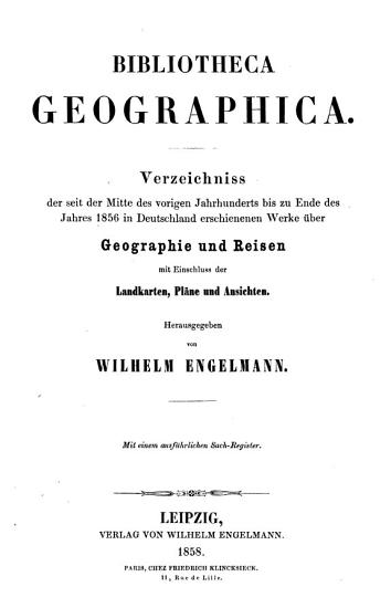 Bibliotheca geographica PDF