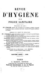 Revue d'hygiène et de police sanitaire: Volume8