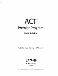 Kaplan Act 2008 Premier Program W Cd Rom  Book PDF
