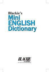 Blackie S Mini English Dictionary Book PDF