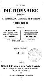Nouveau dictionnaire pratique de médecine, de chirurgie, et d'hygiène vétérinaires: Volume11