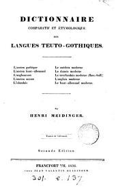 Dictionnaire étymologique et comparatif des langues teuto-gothiques. Trad