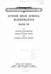 Junior High School Mathematics ...