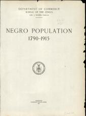 Negro Population 1790-1915