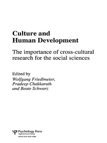 Culture and Human Development PDF