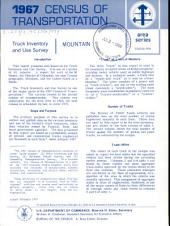 1967 Census of Transportation: Truck inventory and use survey. Mountain, Volume 3