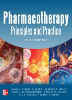 Pharmacotherapy Principles and Practice  Third Edition PDF