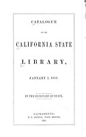 Catalogue of the California State Library  January 1  1855 PDF