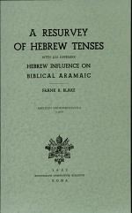 A Resurvey of Hebrew Tenses