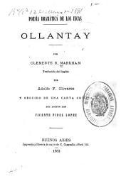 Poesía dramática de los Incas: Ollantay