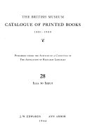 Catalogue of the Printed Books in the Library of the British Museum PDF