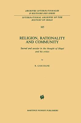 Religion  Rationality and Community PDF