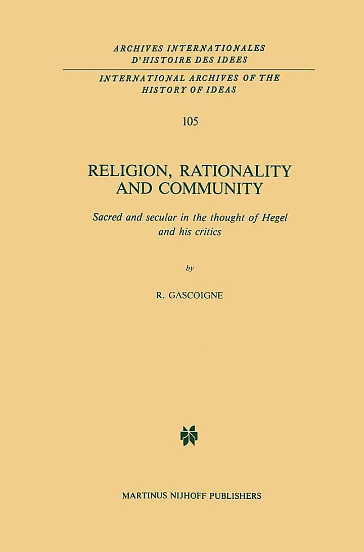 Religion, Rationality and Community