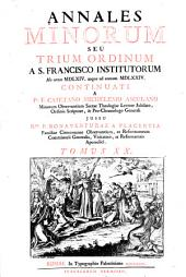 Annales Minorum seu Trium Ordinum a S. Francisco institutorum: Volume 20