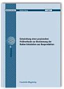 Entwicklung einer praxisnahen Pr  fmethode zur Bestimmung der Radon Exhalation aus Bauprodukten PDF