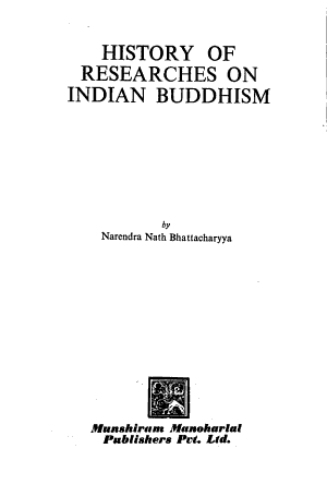 History of Researches on Indian Buddhism