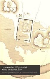 Lettres écrites d'Egypte et de Nubie en 1828 et 1829